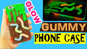 diy gross phone case polymer clay tutorial gummy slime phone