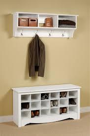 wall mounted furniture wall mounted coat hooks rack stand with coat rail u0026 storage shelf