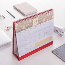 calendrier de bureau personnalisé pas cher impression offset nouveau design reliure spirale chevalet