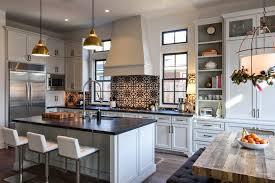 houston spanish tile backsplash kitchen transitional with transom