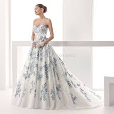 blue wedding dresses fancy white and blue wedding dresses on wedding dress design ideas