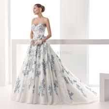 fancy white and blue wedding dresses on wedding dress design ideas