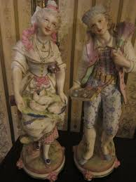 pr antique french vion baury bisque porcelain statue figurines