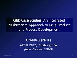 quality by design qbd case studies integrated use of design of