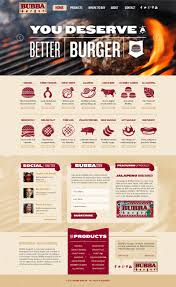 website homepage design bubba foods retail food web design and brand development