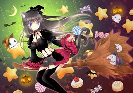 anime halloween night background anime wallpaper collection on wallpaperget com