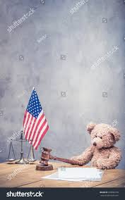 Flag Law Teddy Bear Usa Flag Law Scales Stock Photo 669588190 Shutterstock