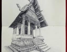 architecture wat pah ouak croquis cuaderno drawing dibujo pencil