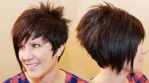 how to cut a short ladies shag neckline how to cut womens hair short pixie assymetrical a line haircut