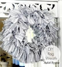 Diy Twig Wreath by Diy Rag Wreath Stylish Revamp