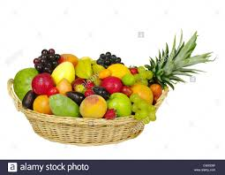 fruit in a basket a big variety of fruits in a basket stock photo 50367535