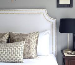 white upholstered headboard full size home design ideas