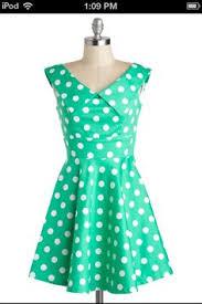 mint green polka dot dress oasis amor fashion