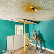 Ceiling Paint Sprayer by How To Paint Popcorn Ceilings Family Handyman