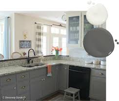 what wall color looks with grey cabinets 20 trending kitchen cabinet paint colors