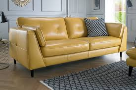 Yellow Sofa Bed Corner Sofas In Leather Fabric Sofology