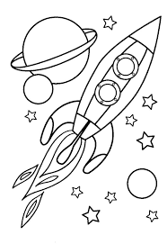 space pictures for kids to color in free printable space coloring