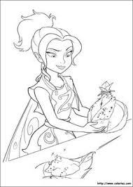 online printable tinkerbell and other fairies coloring page for
