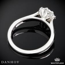lotus engagement ring danhov cl140 classico solitaire engagement ring whiteflash 3811