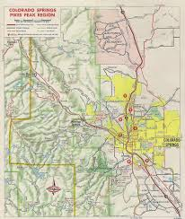 Maps Colorado Springs by Inset Map Of Colorado Springs Area 1970 Scanned From 1970 U2026 Flickr