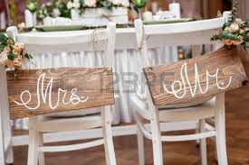 mr and mrs table decoration mr and mrs wedding table decorations stock photo picture and