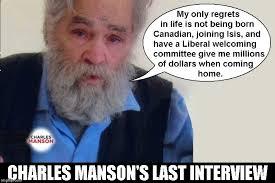 Charles Manson Meme - charles manson s last interview imgflip