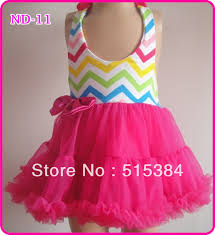 rainbow chevron pink petti halter dress for princess new girls