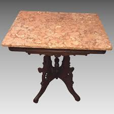 antique marble top pedestal table antique pink marble top coffee table vintage pink marble top coffee