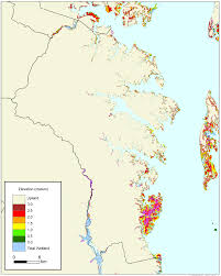 Md County Map More Sea Level Rise Maps For Maryland