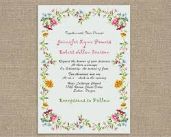 wedding invitations floral country rustic shabby chic floral wedding invites iwi276 wedding