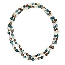 color pearl necklace images 42 inches multi color cultured freshwater pearl jpg