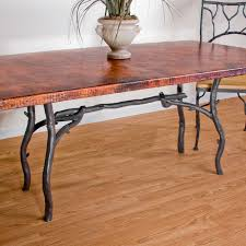 beautiful copper top dining room tables pictures home design rustic wrought iron south fork dining table with 42in x 72in