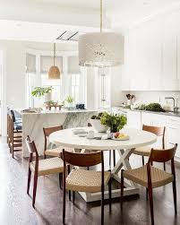 Chandelier Lights For Dining Room Kitchen With Oval Dining Table Transitional Kitchen