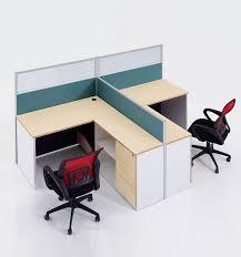 T Shape Desk T Shape Office Panel With Glass Partition 2 Person Computer Desk