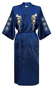 robe de chambre japonaise homme robe de chambre kimono japonais homme peignoir yukata satin amazon