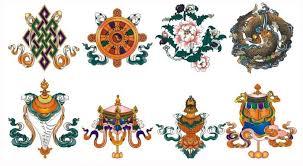 Buddhist Treasure Vase Eight Auspicious Symbols Tibetan Buddhism Symbols Snowlion Tours