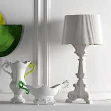 Jeeves Table Lamp Bourgie Lamp White Gold Ferruccio Laviani Kartell