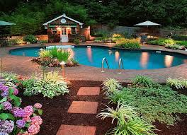 backyard ideas with pool pool landscaping ideas on a budget backyard landscape design ideas