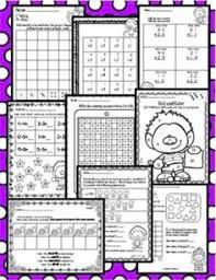 terrific trolls math morning work 56 printable worksheets no
