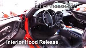 1989 Corvette Interior Open Hood How To 1990 1996 Chevrolet Corvette 1995 Chevrolet