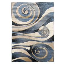 Beige And Gray Area Rugs Donnieann Company Sculpture Blue Beige Abstract Swirl Area Rug