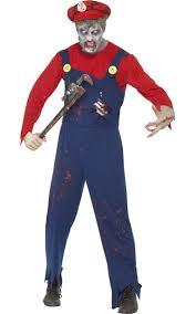 zombie plumber men u0027s costume zombie super mario halloween costume