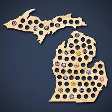 Michigan Breweries Map by Michigan Beer Cap Map
