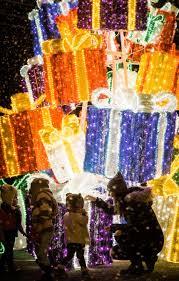 glow christmas light garden u0026 market to feature 210ft light tunnel