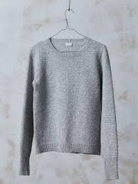 wool sweater knitted basic wool jumper natural grey basic