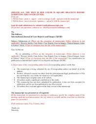 cover letter scientific journal best solutions of cover letters