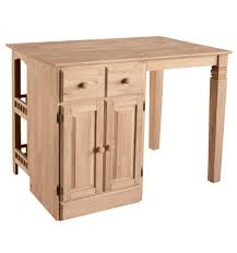 48 kitchen island 48 inch kitchen island with bar burr s unfinished furniture