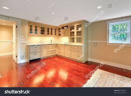 luxury custom build small kitchen basement stock photo 76346071