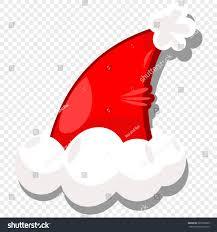 halloween clouds transparent background santa hat isolated on transparent background stock vector