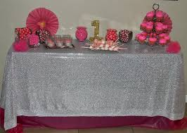 fuschia pink table cloth pretty in pink first birthday party a spark of creativity